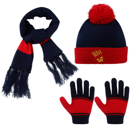 01ad28277d3 Allcaca - Kids Winter Hat-Allcaca 3 Pieces set Baby Girls Boys Winter Hat  Set Scarf Kids Knitted Hat Scarf Gloves for Kids - Walmart.com