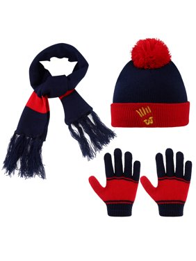 Kids Winter Hat-Allcaca 3 Pieces/set Baby Girls Boys Winter Hat Set Scarf Kids Knitted Hat Scarf Gloves for Kids