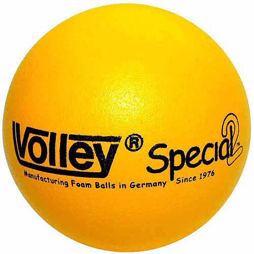 "Volley SuperSkin-2 Special Medium/Low Bounce Foam Ball, 8.25"", Yellow"