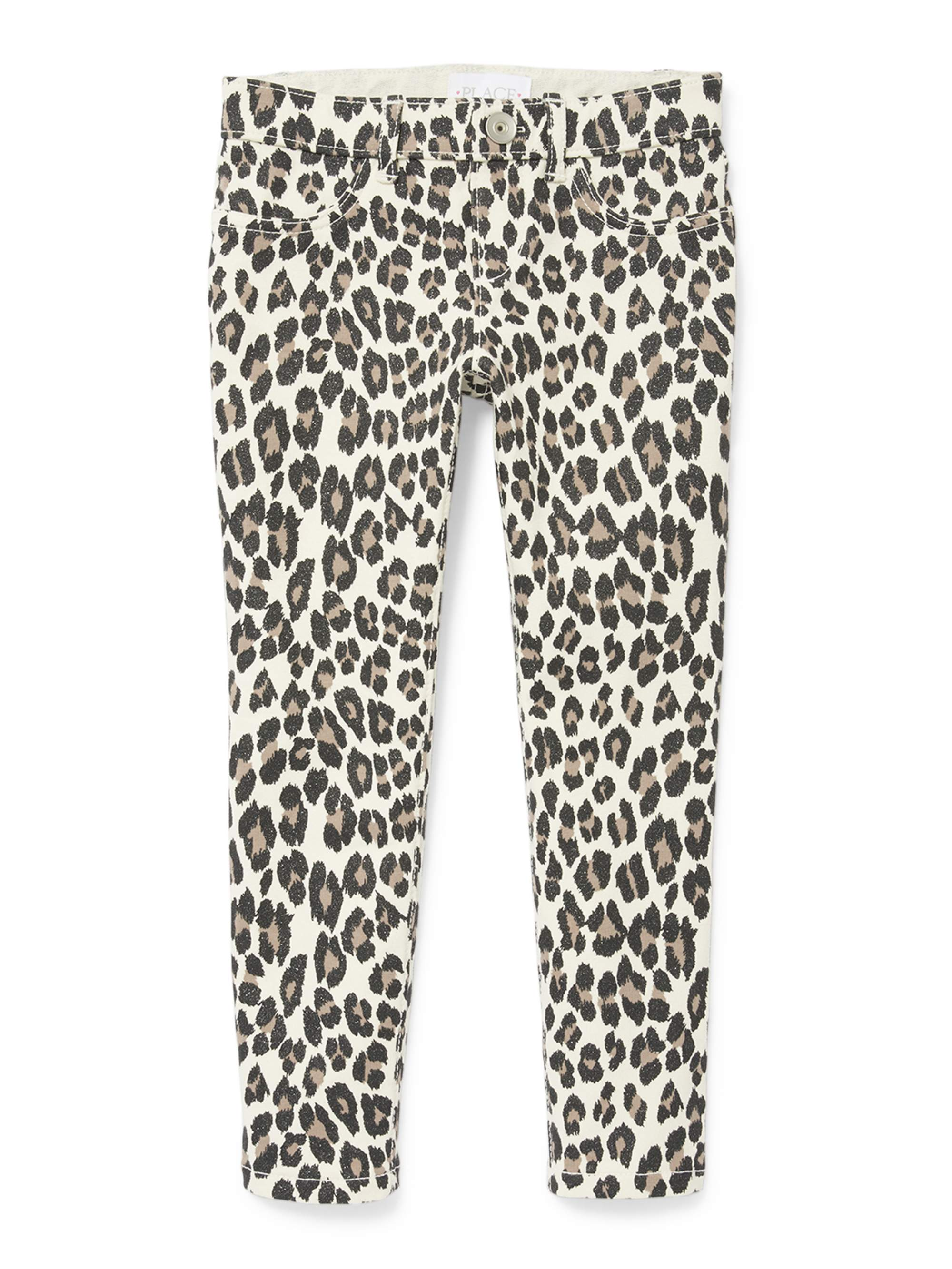 Leopard Glitter Print French Terry Jegging (Little Girls & Big Girls)