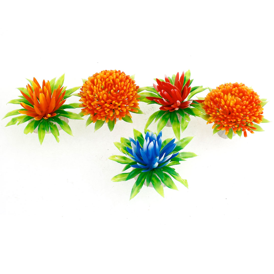 Unique Bargains Ceramic Base Flower Style Artificial Underwater Plants 5 Pcs for Aquarium - image 1 de 1
