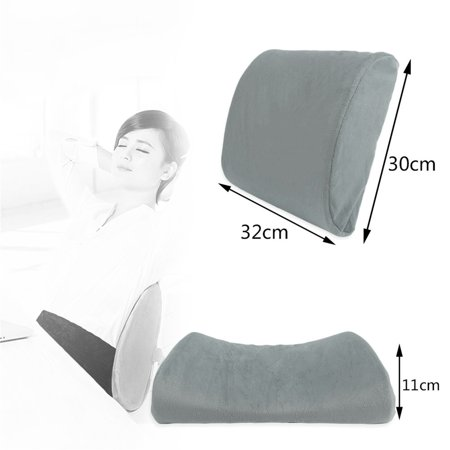 Soft Memory Breathable Healthcare Lumbar Cushion Back Waist Support Pillow - image 8 de 9