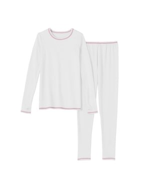 5fc08bdb9303 Product Image Cuddl Duds Chill Chasers Girls White & Pink Thermal Underwear  Base Layer Set