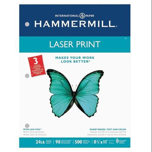 HAMMERMILL HAM107681 Laser Paper,8-1/2 x 11 In,White,PK500 G9729937