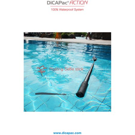 dicapac drs c2 floating selfie stick bundle for phone up to 5 7 and iphone 6 plus bluetooth. Black Bedroom Furniture Sets. Home Design Ideas