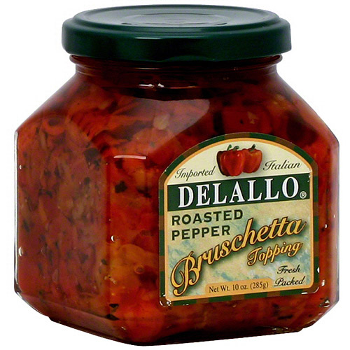 DeLallo Roasted Red Pepper Bruschetta, 10 oz (Pack of 6)