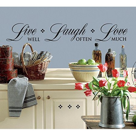 Live WELL, Laugh OFTEN, Love MUCH ~ WALL DECAL 6