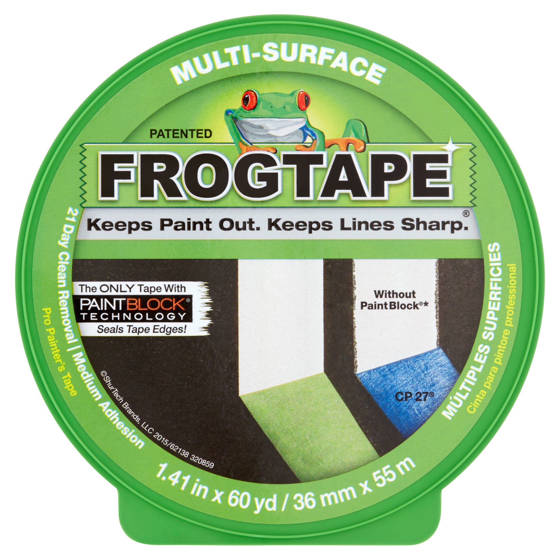 frog tape painting tape, 1.41 in. x 60 yds.