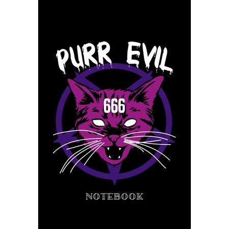 Purr Evil - Notebook: Satanic Cat (Paperback)