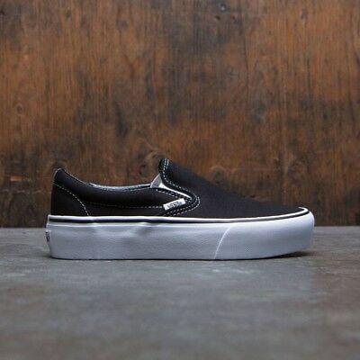 Vans Classic Slip On Platform Black Women's Skate Shoes Size 5 - Vans Shoe Size Chart
