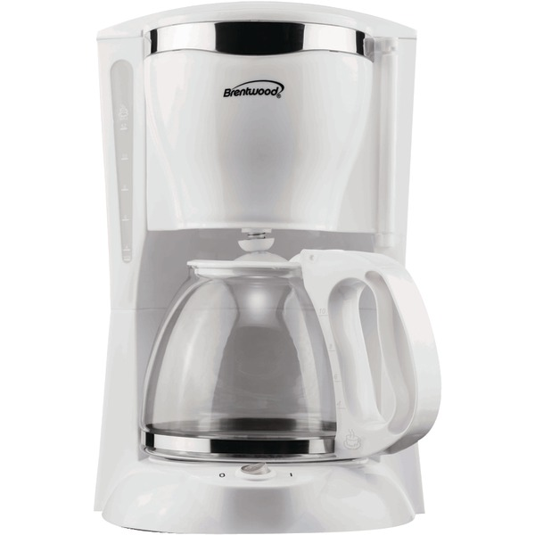 BRENTWOOD 12CUP COFFEE MAKER WHT