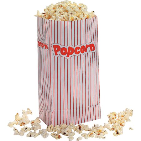 24 Paper Popcorn Treat Bags Kids Birthday Party Favors Circus Carnival Theater - Halloween Popcorn Treats
