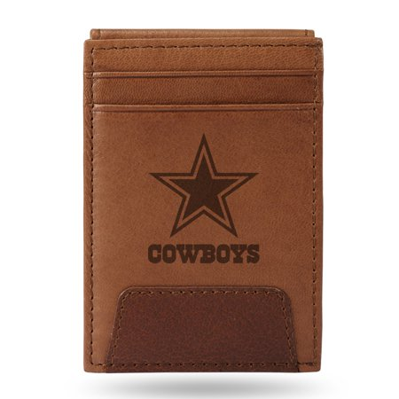 Dallas Cowboys Leather Wallet - Dallas Cowboys Sparo Leather Front Pocket Wallet - No Size