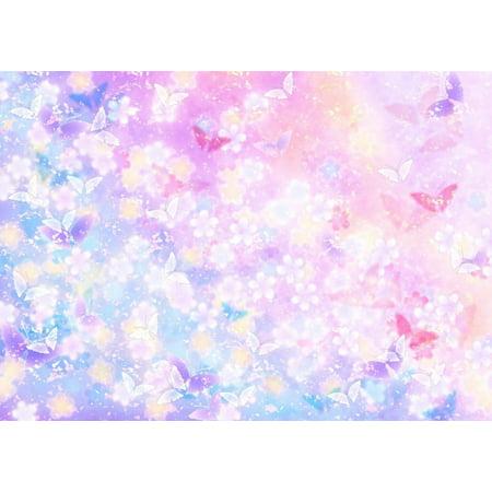 GreenDecor Polyster Photography Backdrop Damask 7x5ft Butterfly Baby Birthday Backgrounds Newborn Photo Studio