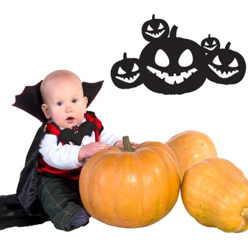 Style and Apply Halloween Jack O' Lanterns Wall Decal Vin...