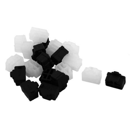 Silicone Laptopn PC Ethernet Hub Port RJ45 Anti Dust Cover Cap Protector Black Clear 20 Pcs - image 3 de 3