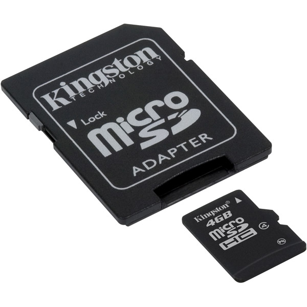 Samsung SGH-T599 Cell Phone Memory Card 4GB microSDHC Memory Card with SD Adapter