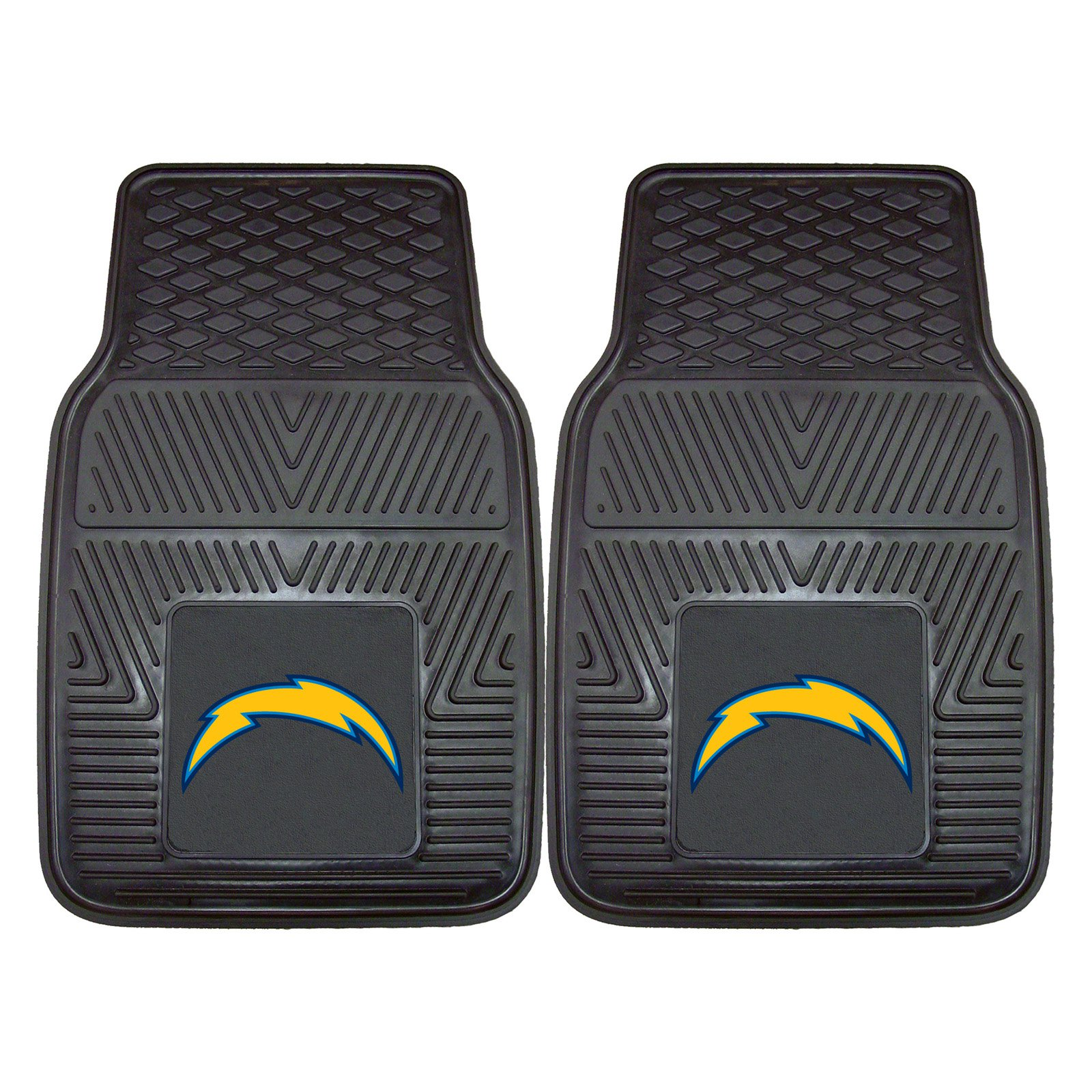 "Los Angeles Chargers 2-pc Vinyl Car Mats 17""x27"""
