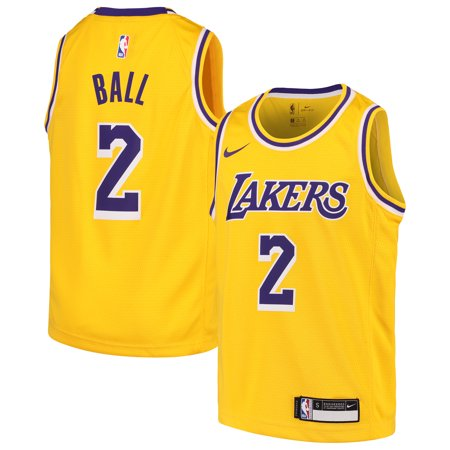 9f97579f4 Lonzo Ball Los Angeles Lakers Nike Youth Swingman Jersey Gold - Icon Edition  - Walmart.com