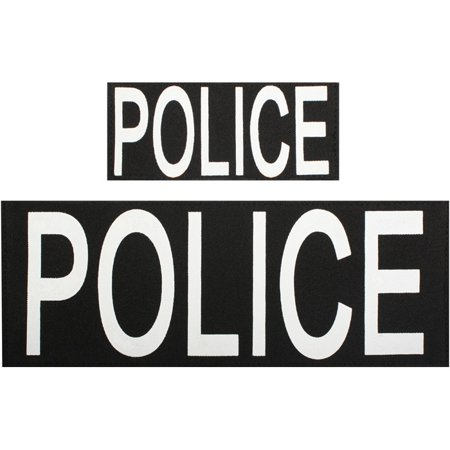 Black - Two Piece POLICE Patch Set with Hook