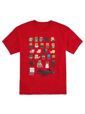 Minecraft Shirt Boys' Sprites Character T-Shirt