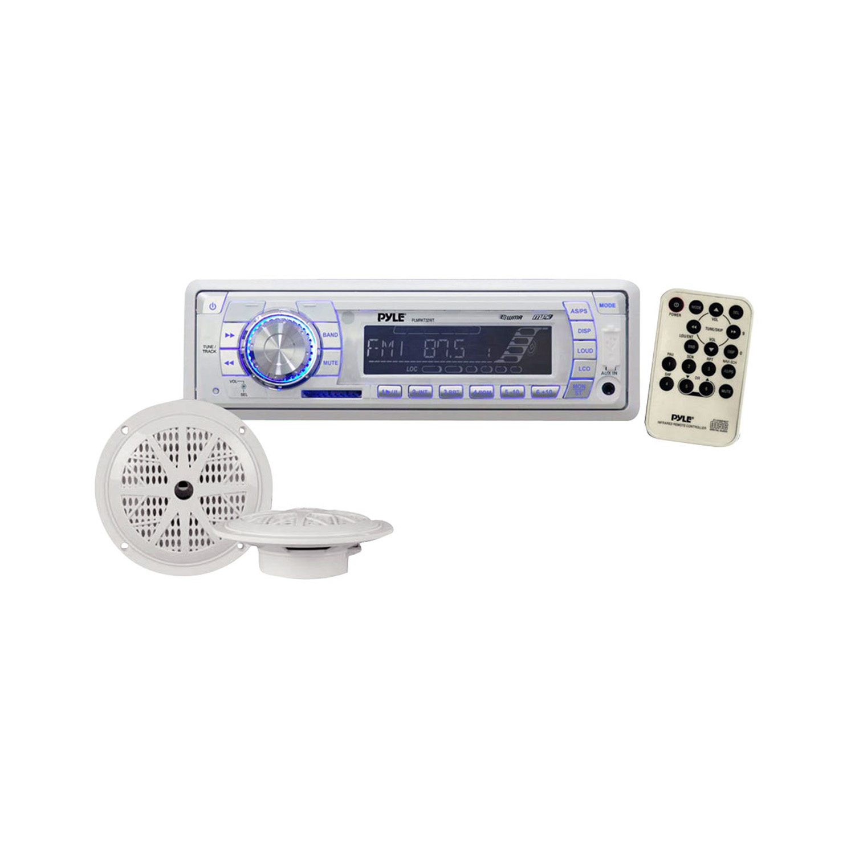 Pyle In-Dash Marine AM/FM PLL Tuning Radio with USB/SD/MMC
