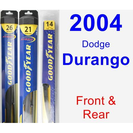 2004 Dodge Durango Wiper Blade Set Kit Front Rear 3 Blades