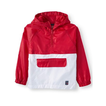 Pull Over 1/4 Zip Color Block Windbreaker (Big - Womens White Box Quilted Jacket