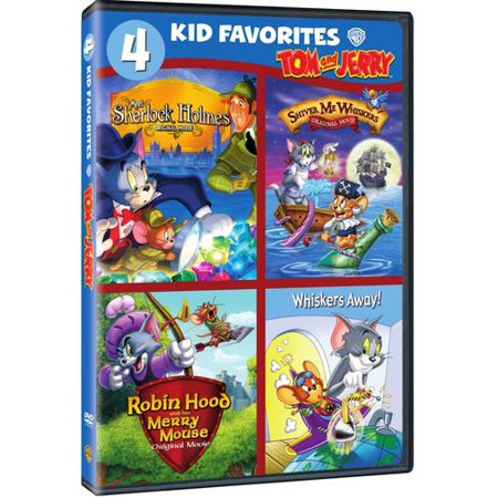 Four Kid Favorites  Tom And Jerry   Meet Sherlock Holmes   Shiver Me Whiskers   Robin Hood And His Merry Mouse   Whiskers Away