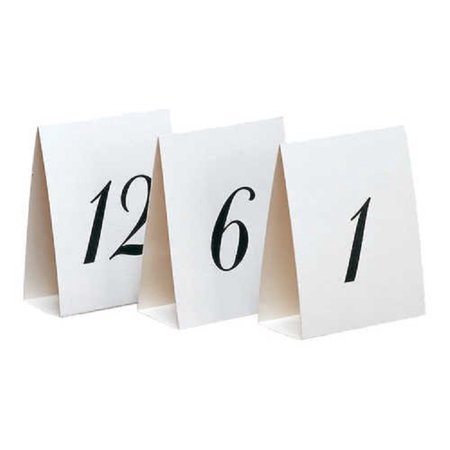 Table Number Cards (Paper Art Number Table Placecards 1-12 Wedding Party Supplies)