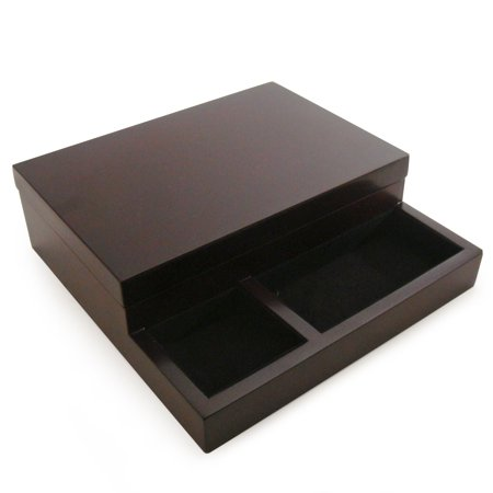 Royal Dresser Valet - Dark Mahogany Finish - 9W x 2.75H in.