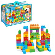 Mega Bloks First Builders Let's Get Learning! with Big Building Blocks, Building Toys for Toddlers (150 Pieces)