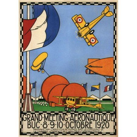 Vintage Planes Fly-In 1920 poster Metal Sign 8inx 12in