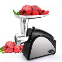 Electric Meat Grinder 2000W, Food Meat Grinders with 3 Stainless Grinding Plates and Sausage Stuffing Tubes for Home Use &Commercial, Dishwasher safe HFON