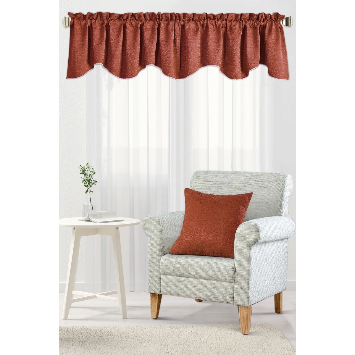 Bnf Home Inc Serenta Jacquard Chenille Galaxy Window Valance Pillow Shell Set Walmart Com Walmart Com