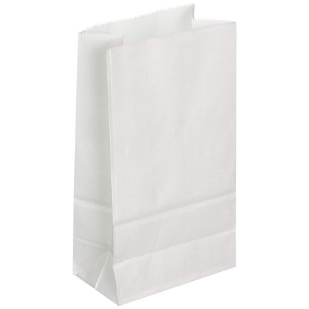 White Paper Bags (100Pcs/Pack) (Blank / No Logo Printed) (Multiple Sizes Available)](Printed Paper Bags)