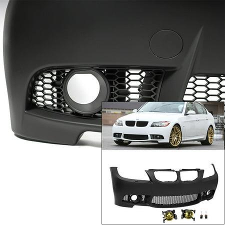 - Front Bumper w/ Yellow Fog Lights For E90 BMW 2009-2011 3 Series Sedan M3 Style