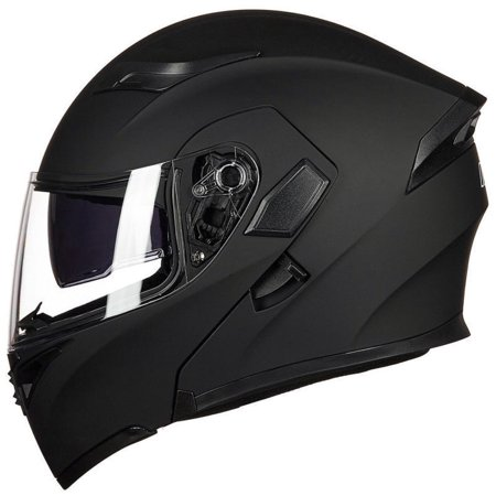 Cooligg Full Face Helmet Motorcycle Street Bike Helmet Dual Visor Flip up Modular DOT Approved