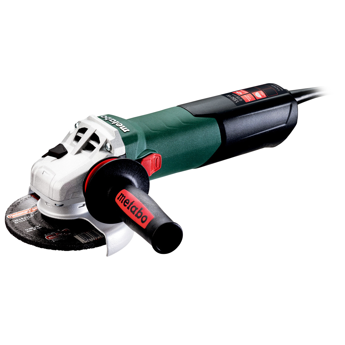 Metabo 600465420 5-Inch 13.2-Amp 9,600 RPM Angle Grinder with Elock-On Switch
