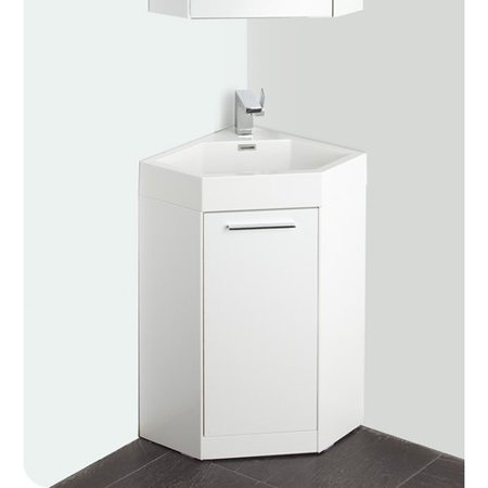 Fresca Lucida 18 Single Coda Modern Corner Bathroom Vanity Set