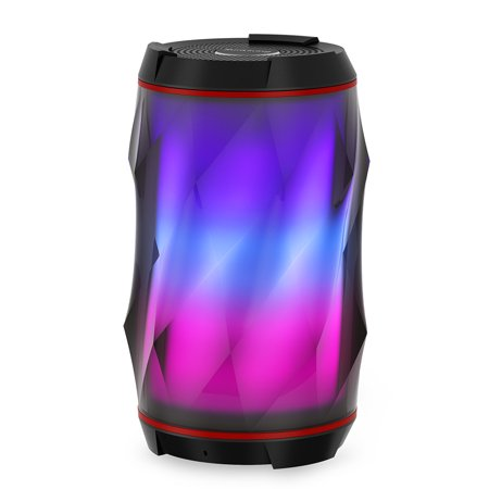 LED Bluetooth Speaker, Night Light Changing Wireless Speaker, Sunliking Portable Wireless Bluetooth Speaker 6 Color LED Themes, Handsfree/Phone/ PC/MicroSD/ USB Disk/AUX-in/TWS Supported