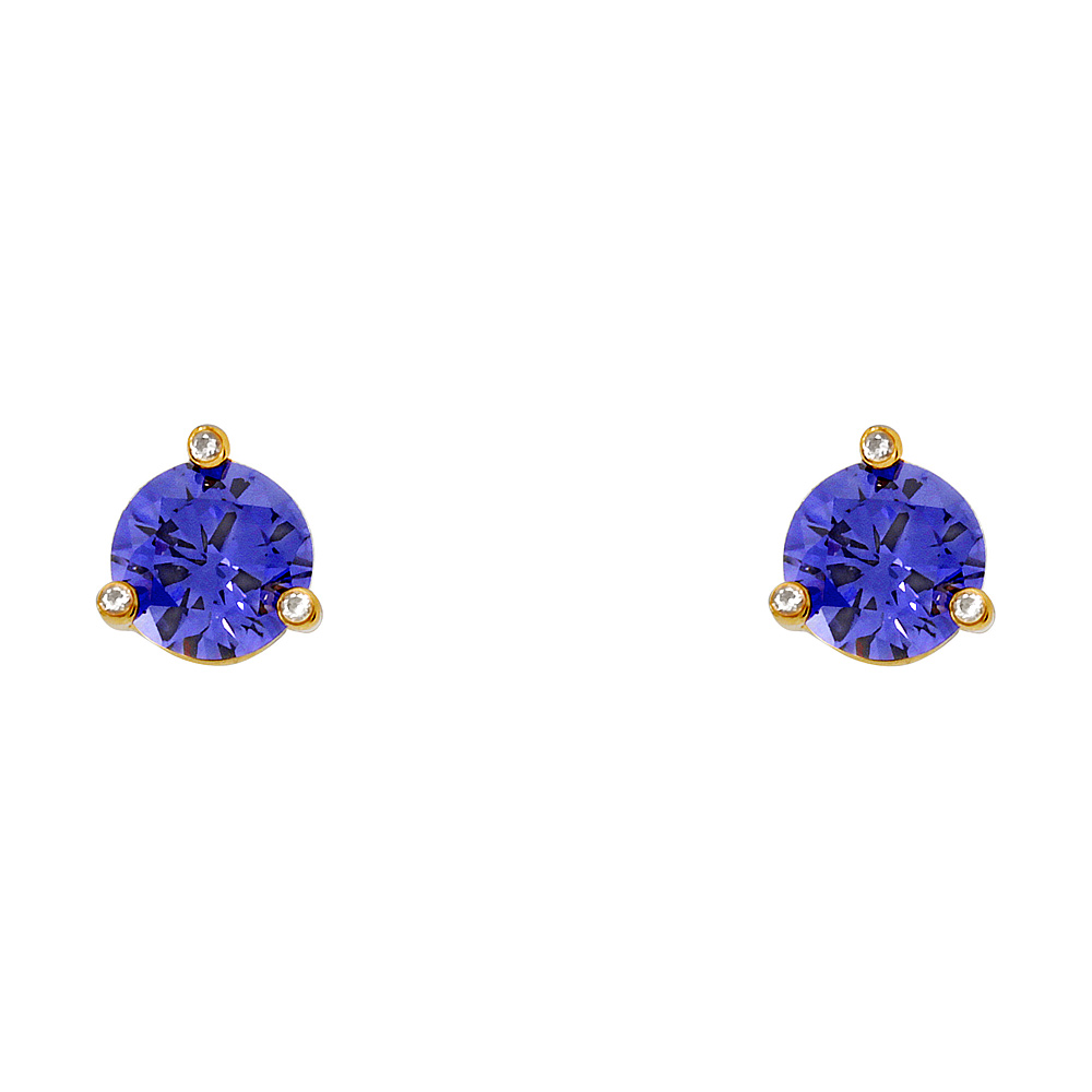 Kate Spade Rise And Shine Small Light Sapphire Stud Earrings