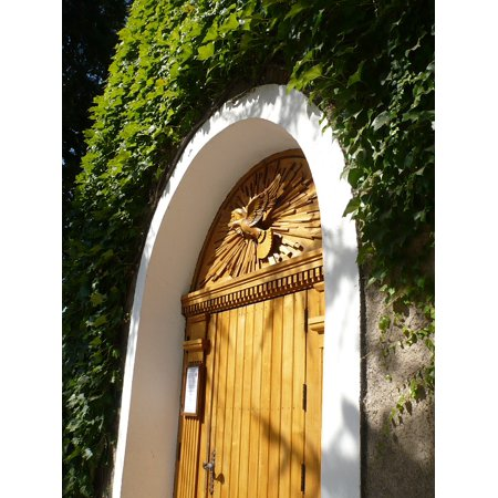 LAMINATED POSTER Door Green Holy Spirit Woods Colors Poster Print 24 x