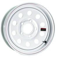 Taskmaster Trailer Wheel 15x5 5x5 White Mod 3.19 CB 0 OS 2150 LCC Made in Korea