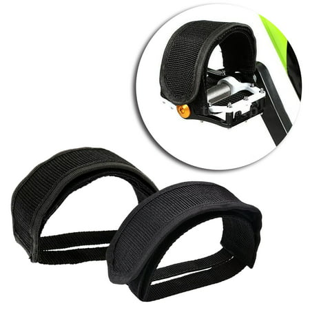 Outgeek 1 Pair Bike Pedal Straps Pedal Toe Clips Straps Tape for Fixed Gear Bike(Black)