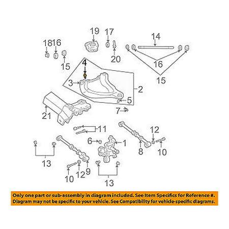 CHRYSLER OEM Rear Suspension-Upper Control Arm Mount Bolt 6504386