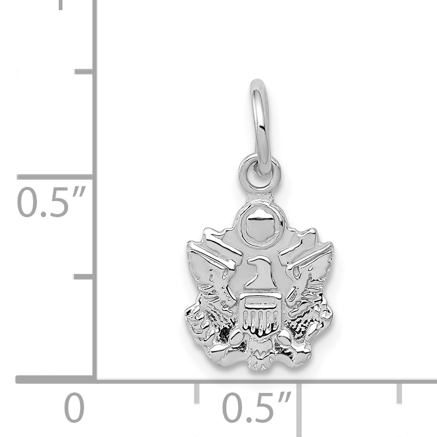 14K White-U.S Army Pendant