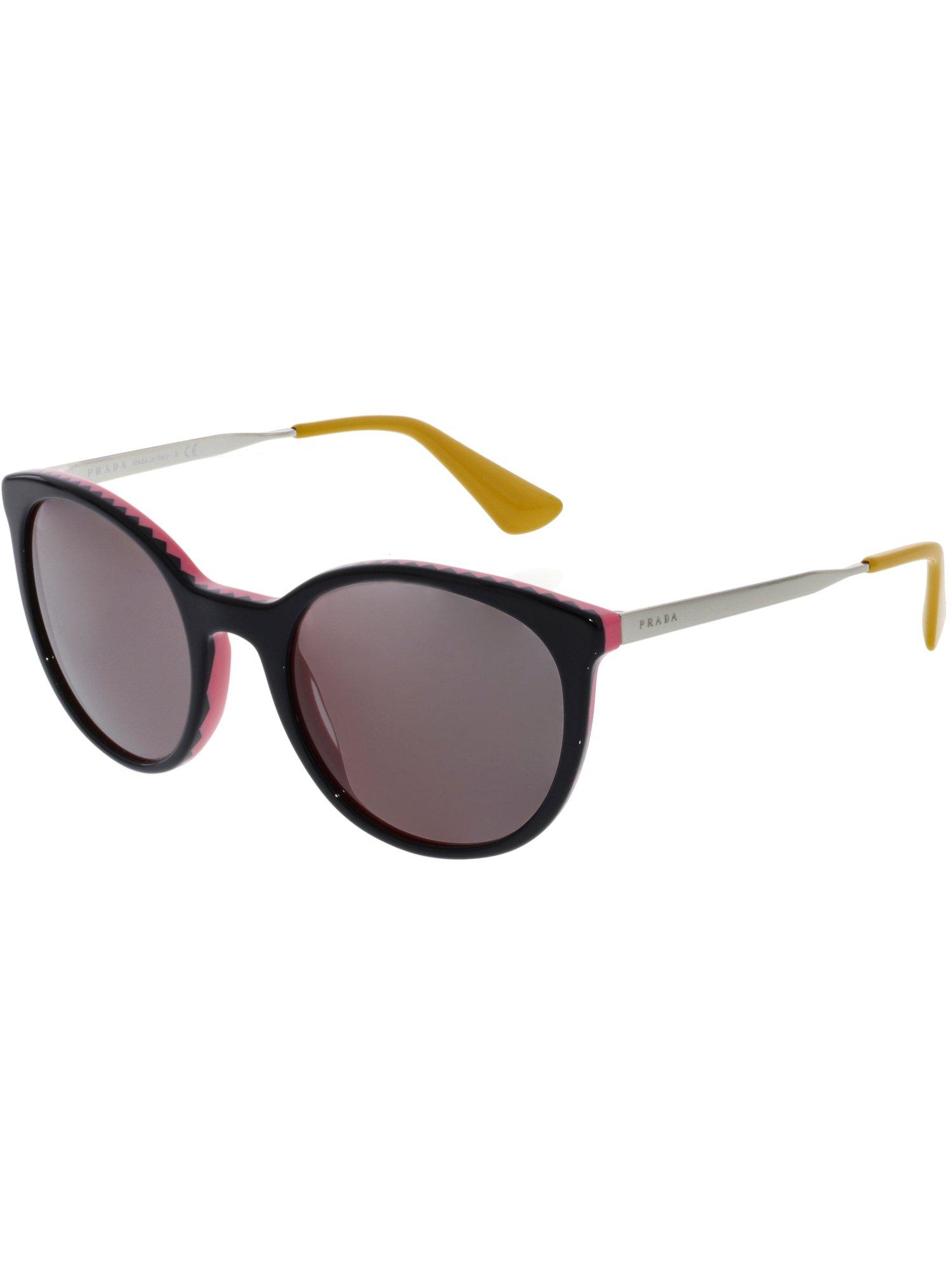 a83ffac21caa ... cheap prada womens mirrored pr17ss vh66x1 53 black round sunglasses  fe5a7 426ac