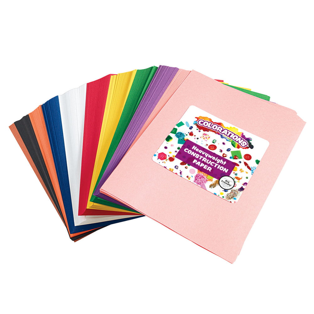 9-Inch by 12-Inch 9 in x 12 inch Darice Assorted Color 200 Sheets Construction Paper Pad