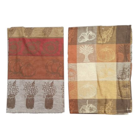 Set of 2 PUMPKIN PATCH & INDIAN CORN Jacquard Kitchen Towels by Park Designs